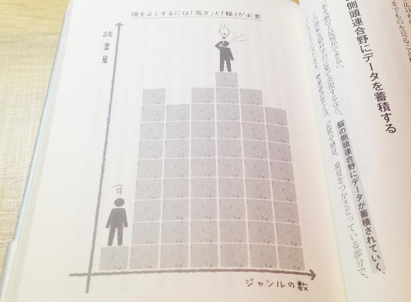 頭を良くするには「高さ」と「幅」が必要ということを表したイラスト