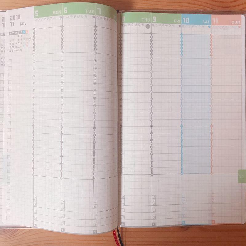ジブン手帳 mini 週間バーチカル