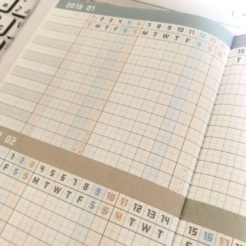 ジブン手帳 ガントチャート