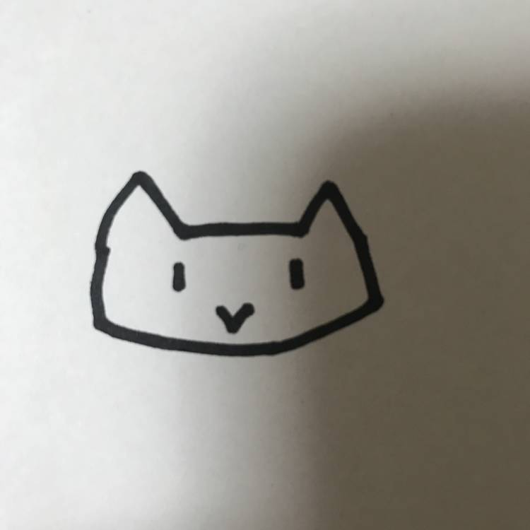 ネコ お名前ペン 簡単イラスト