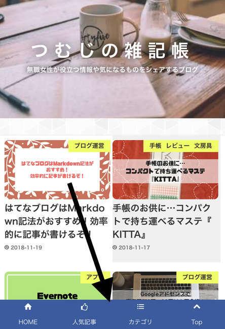 複合メニューバー つむじの雑記帳