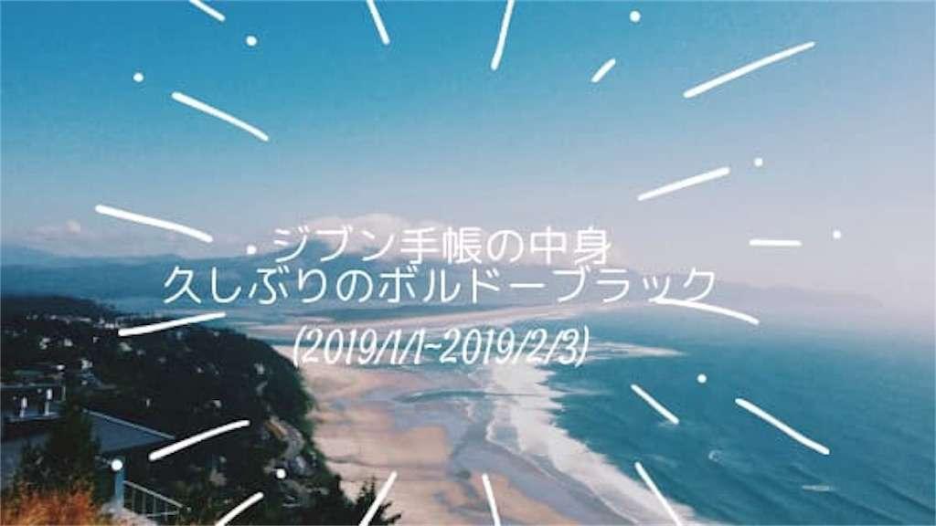 ジブン手帳の中身(2019/1/1~2019/2/3) 久しぶりのボルドーブラック