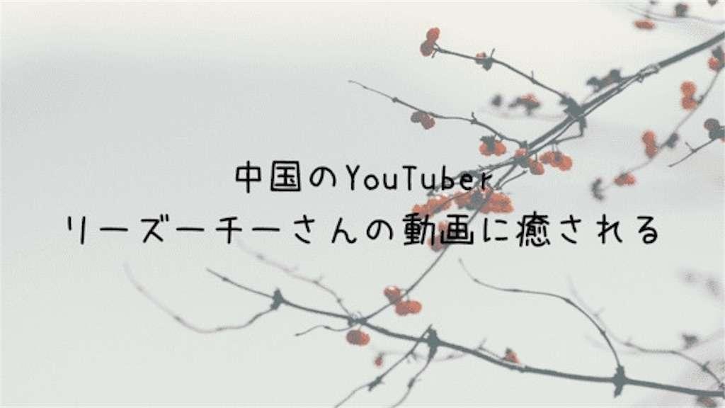 中国のYouTuber 李子柒さんの動画に癒される