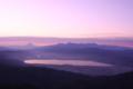 諏訪湖と富士山(左上)