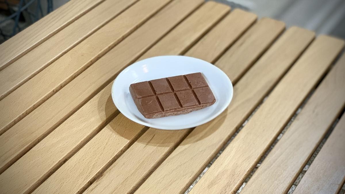 はじめて作った板チョコ