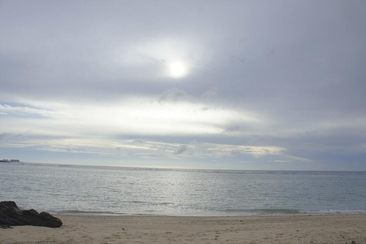 希望ヶ丘ビーチの夕刻