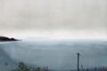 函館湾の雨が上がる