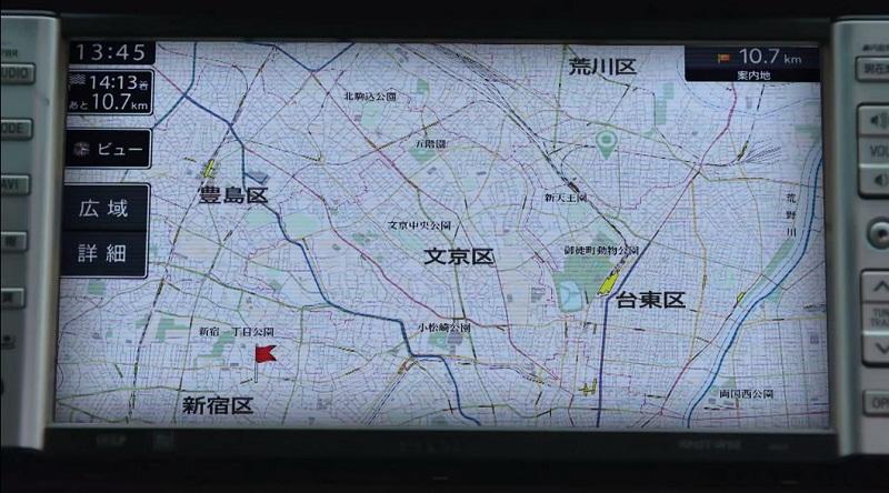 MIU404 #7 タイトルバック カーナビ画面