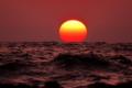 夕景能登の海
