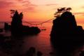 能登金剛 機具岩の夕景