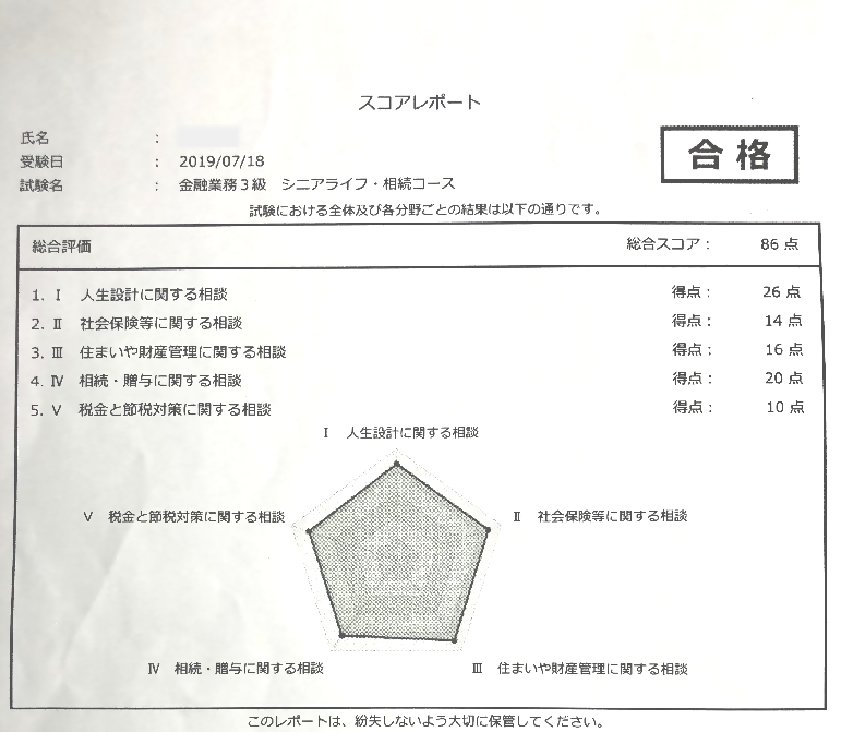 シニアライフ・相続アドバイザー試験合格