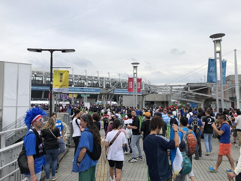 ラグビーWC フランス対アルゼンチン
