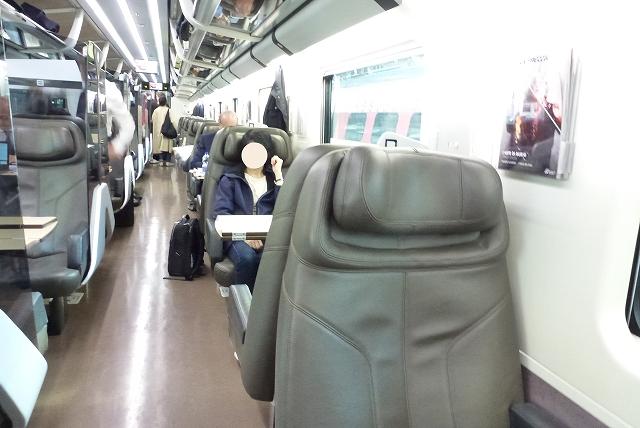 ミラノ→フィレンツェ鉄道 ビジネスクラス