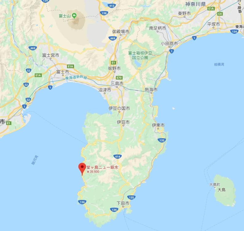 伊豆堂ヶ島 ニュー銀水地図