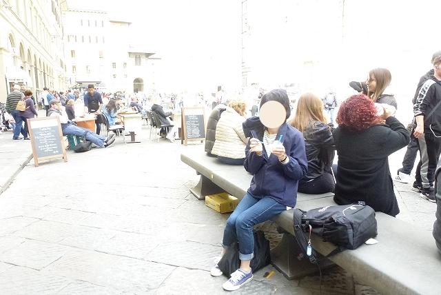 イタリア フィレンツェ ドゥモ広場 ジェラード
