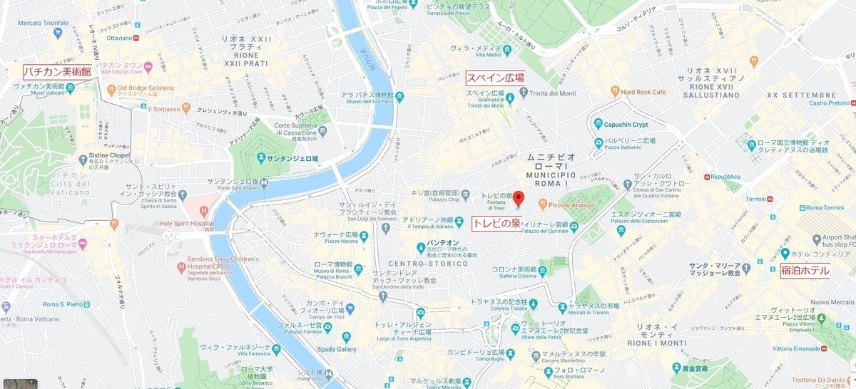 ローマ市内地図