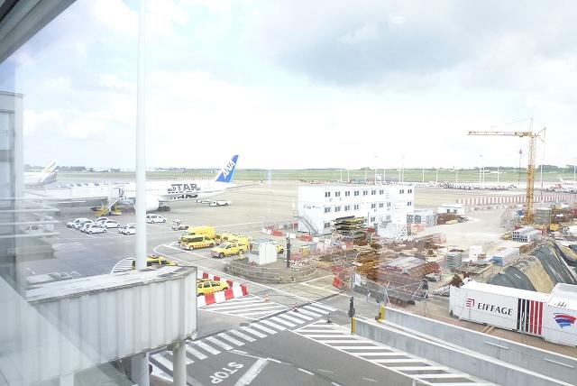 ブリュッセル空港 ANA機体