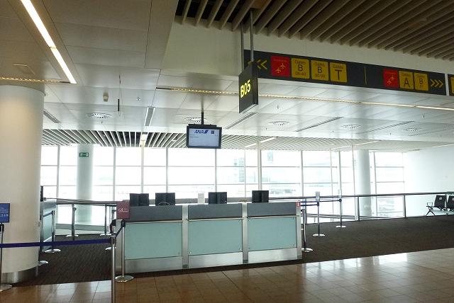 ブリュッセル空港 ANA搭乗口