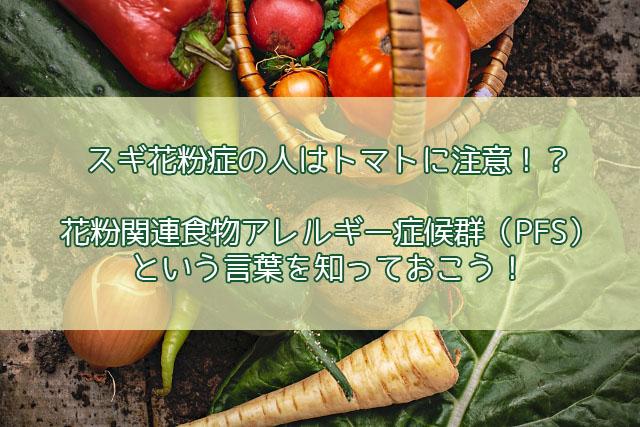 スギ花粉 ヒノキ花粉 関連 食物 アレルギー 症候群 PFS トマト スイカ 果物