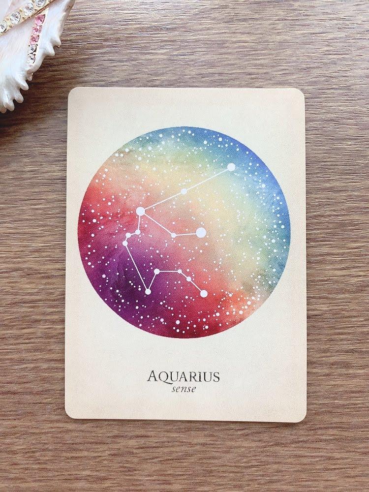 aquarius みずがめ座 水瓶座 compendium of constellations 星座 オラクルカード タロット 日本語 解説 センス sense