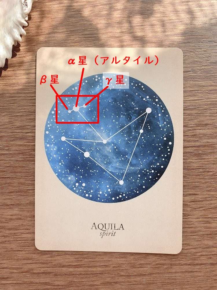 AQUILA わし座 鷲座 compendium of constellations 星座 オラクルカード タロット 日本語 解説 精神 魂 spirit