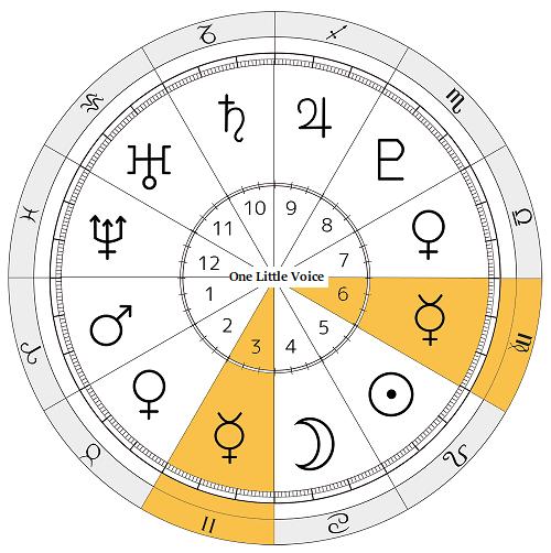 セーラーマーキュリー 西洋占星術 セーラームーン ホロスコープ 水星 3ハウス 6ハウス 双子座 乙女座 知性 コミュニケーション 医療 分析 水野亜美