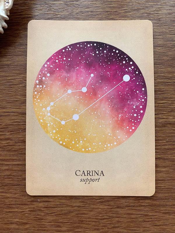 CARINA support りゅうこつ座 竜骨座 compendium of constellations 星座 オラクルカード タロット 日本語 解説 支援 援助