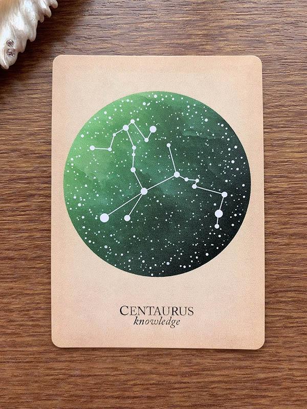 CENTAURUS knowledge ケンタウルス座 compendium of constellations 星座 オラクルカード タロット 日本語 解説 知識 知恵