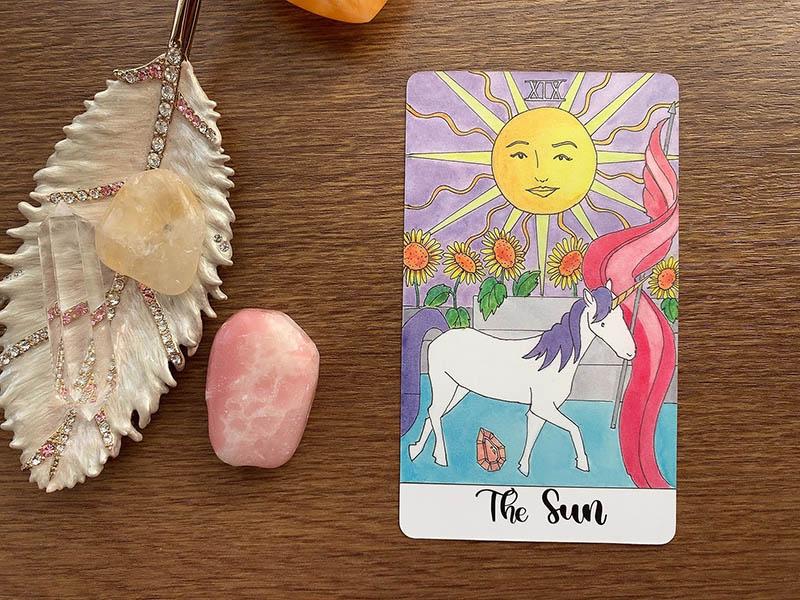 クリスタルユニコーンタロット 紹介 タロットカード Crystal Unicorn Tarot アメリカ 購入方法 Etsy