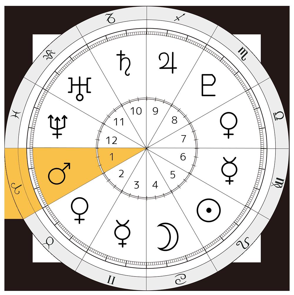 セーラーマーズ 火野レイ 西洋占星術 火星 1ハウス 8ハウス 牡羊座 蠍座 解説 セーラー戦士