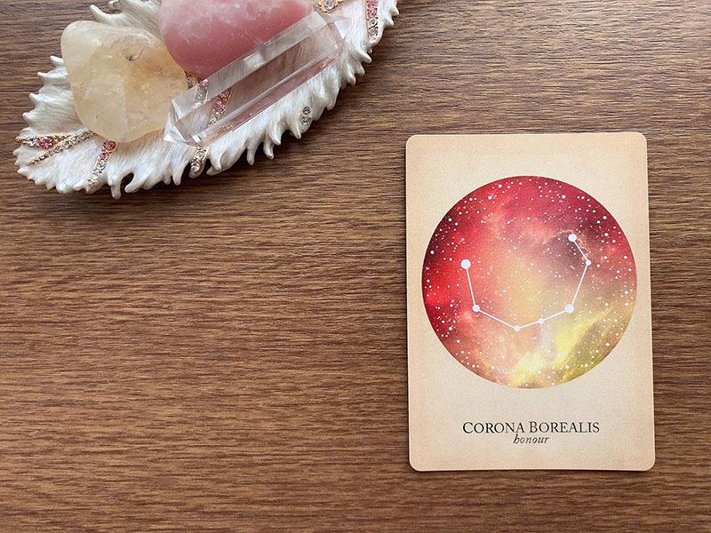 CORONA BOREALIS honour かんむり座 compendium of constellations 星座 オラクルカード タロット 日本語 解説 栄誉 名誉 栄冠