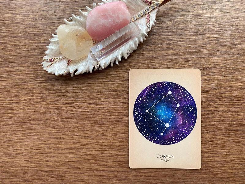 CORVUS magic からす座 烏座 compendium of constellations 星座 オラクルカード タロット 日本語 解説 魔法 魔術