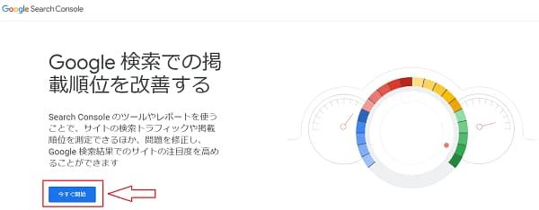 Google サーチコンソール登録のトップページ画像