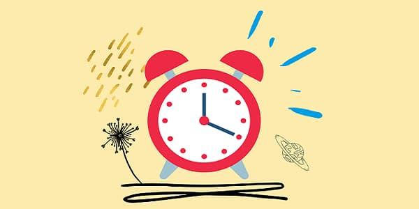 目覚まし時計の絵