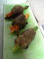 旦那の手料理:人参とアスパラのつくね含め煮