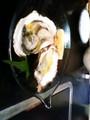小豆島産生牡蠣。オリーブオイルかかっててうまー。