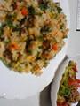 夕飯:炒飯と肉野菜炒め