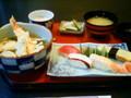 昼食福 寿司にて寿司天定食