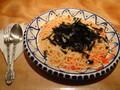 夕食本 町マザーグースにて明太子と海苔のスパゲティ