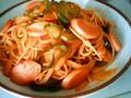 [uinuin]カリオストロ見て以来ナポリタンが食べたくて、お昼ナポリ タンにし