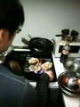 客人にホタテのバター焼きをまかせてみた。