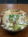 [かじ][外飯]かつ丼てんこ盛卵2個。