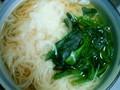 [uinuin]画像が違ってるのは悔しいのでもう一回。にゅうめん食べた ー。あつ