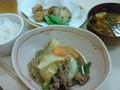 [くじこ]料理教室。すき焼き風とお味噌汁とれんこんのはさみ揚げ