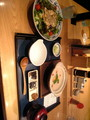 お腹に優しいはず!粥&豆腐サラダ