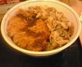 晩ご飯:豚すきカツ丼@かつや