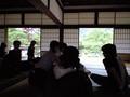 [保津川下りオフ] 天龍寺で休憩中