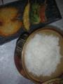 帰宅し夕食を作成しておりました 今夜は土鍋ご飯と串揚げ各種 皆様