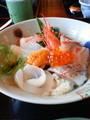 [いーちゃん][ 旅行]海鮮丼。美味しかったけど、いろい ろ反省も多い旅でした。。