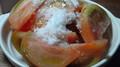新鮮トマトの砂糖ぶっかけ北海道風を食べるー。